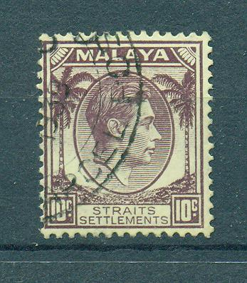 Straits Settlements sc# 244 (2) used cat value $.25