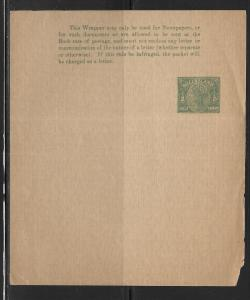 Queensland Postal Stationery Wrapper H&G 1 Unused