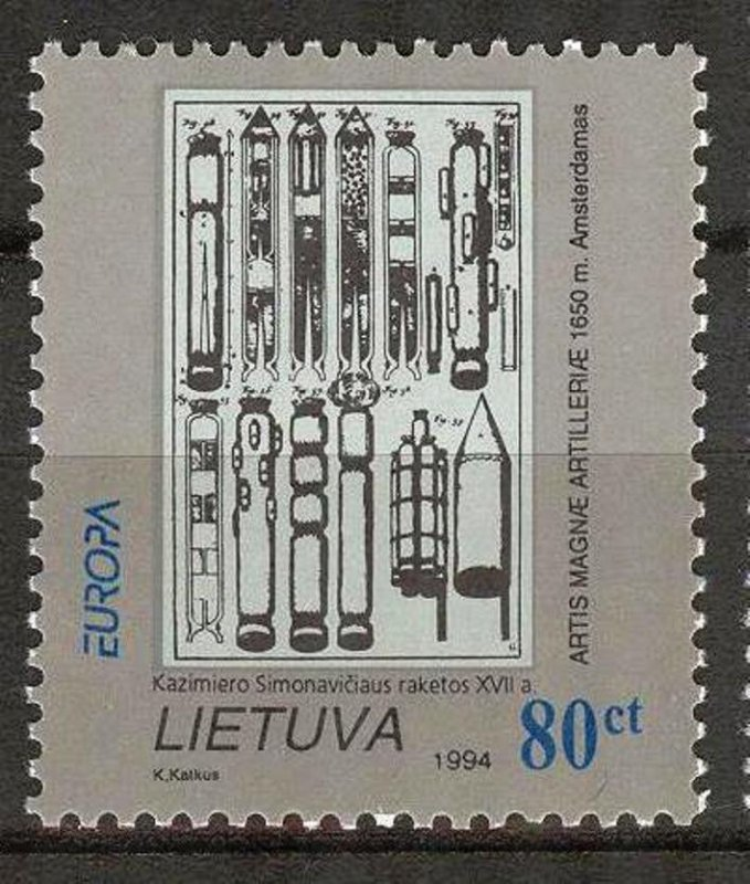 Lithuania 1994 Europa CEPT Inventions and Discoveries Rockets MNH