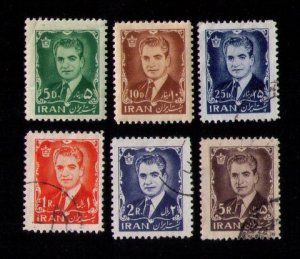 IRAN Sc 1209-1215 Mint Hinged & Used Not A Complete Set Reza Shah F-VF 1962