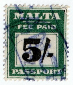 (I.B) Malta Revenue : Passport 5/-