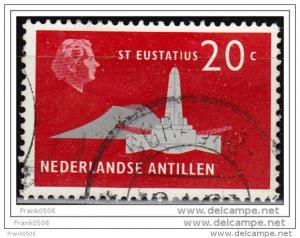 Netherlands Antilles 1958, St. Eustatius, 20c, used
