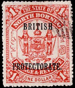 North Borneo Scott 118 Used British Protectorate overprint