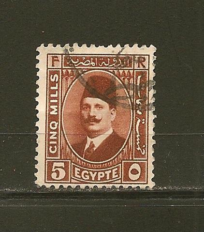 Egypt 135 King Fuad Used