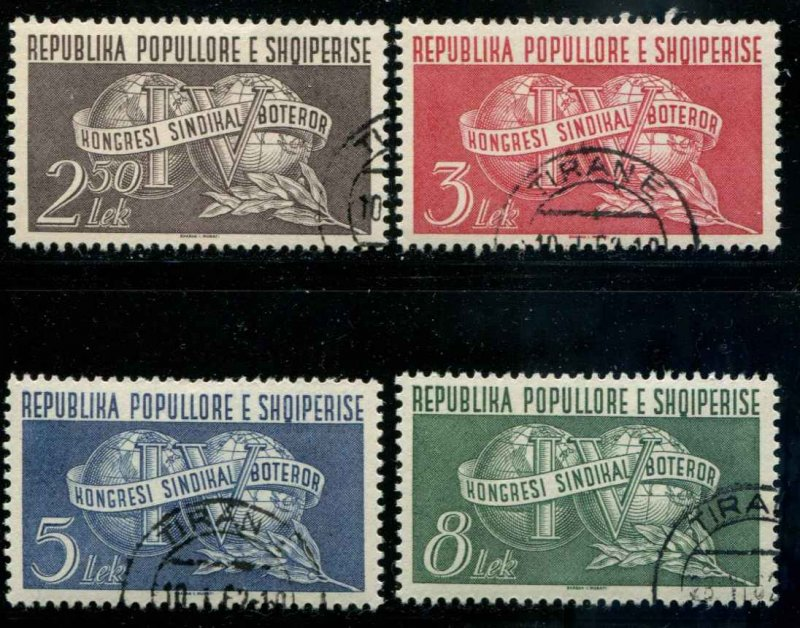 Albania SC# 521-5 Trade Union Congress set used