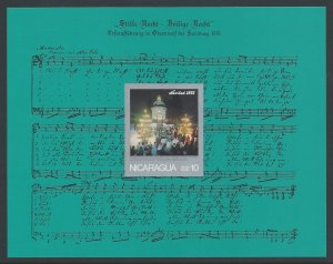 Nicaragua #C890a NH Christmas 1975, Chapel Choir, Silen...