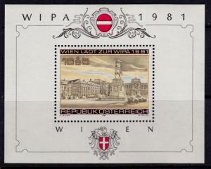 Austria B345 MNH - Michel Block 5 (1665) - 1981