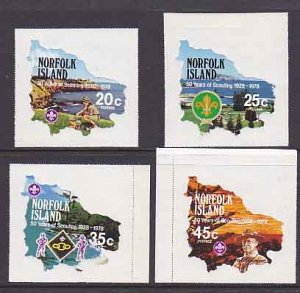 Norfolk Islands MNH 231-4 50 Years Of Scouting 1978 Must See!!!!