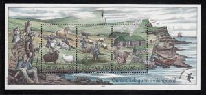 Faroe Islands - 2005 -Life of the Vikings  sheet MNH # 452
