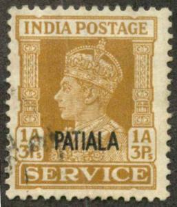 India Patiala O68 Used F-VF