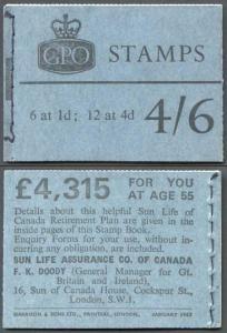 L64 January 1967 4/6 No Phosphor Booklet