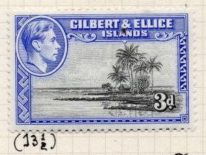Gilbert & Ellice Islands 1939-45 Issue Fine Mint Hinged 3d. Perf in Scan 096243