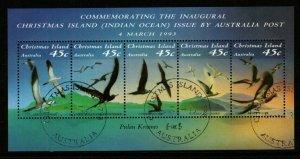 CHRISTMAS ISLAND SGMS377 1993 SEA BIRDS FINE USED