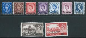 Oman 56-64 Elizabeth Surcharge set MNH NO 56A