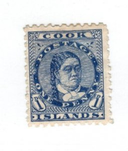 Cook Islands #17 MH Thin CAT VALUE $6.00