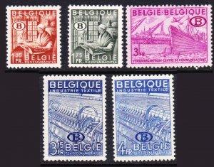 Belgium #o42-46 MH officials