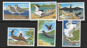 VANUATU SG751/6 1997 BIRDS MNH