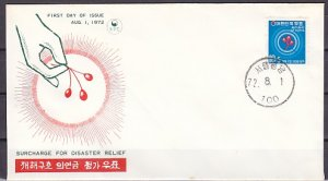 South Korea, Scott cat. B14. Disaster Relief issue. First day cover. ^