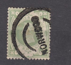 J27535 1887-92 great britain 1 sh used #122 queen $72.50 scv