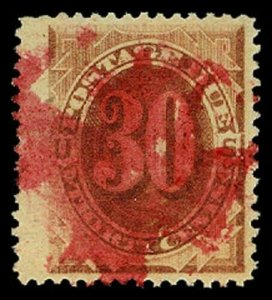 U.S. POSTAGE DUE J6  Used (ID # 57459)