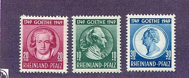 Rheinland  #6NB7-9 Mint VF NH