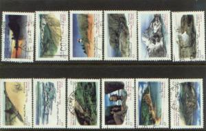 CANADIAN  SET OFPROV&TERRETORIAL PARKS  (12) USED STAMPS  LOT#8