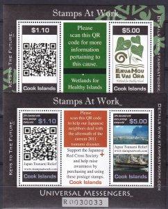 Cook Islands #1386-7 MNH  CV $19.50 (Z9092)