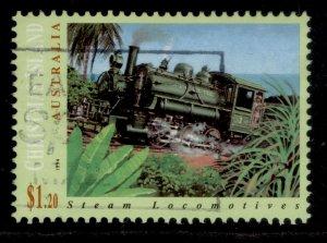 AUSTRALIA - Christmas Island QEII SG391, 1994 $1.20 locomotive, FINE USED.
