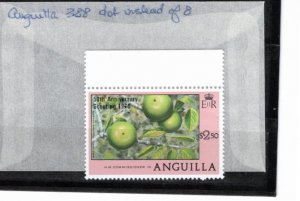 Anguilla 1980 Sc 387-8 MNH Commemorative Perforate Dot on '8' Variety