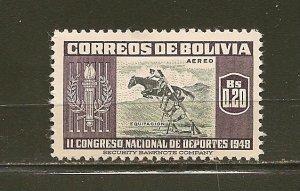 Bolivia C150 Horsemanship Airmail Mint Hinged