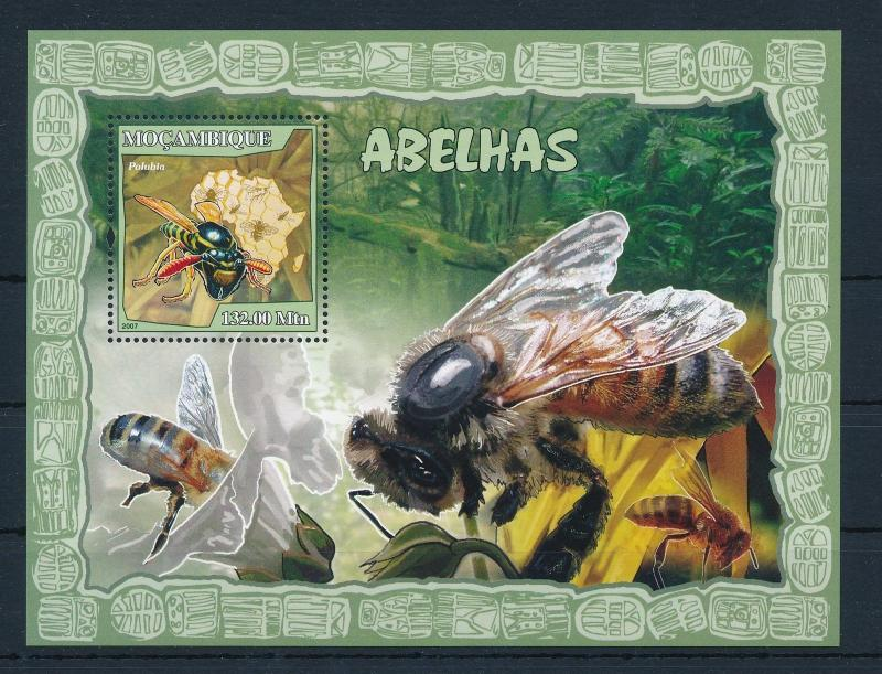 [31370] Mozambique 2007 Insects Insekten Insectes Wasp MNH Sheet