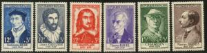 FRANCE Sc#B303-B308 1956 Portraits Complete Mint NH