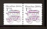 #1897 Transportation coil: Omnibus Single or Pair Mint NH