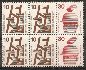 Germany #1075a Mint Booklet pane F-VF CV $3.00 (ST509)