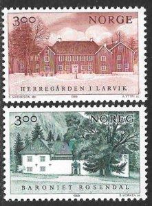 NORWAY 1989 Manor Houses Set Sc 950-951 MNH