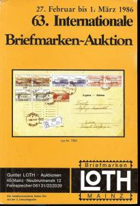 63. Loth-Briefmarken-Auktion: Internationale Briefmarkena...