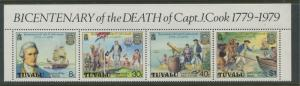 Tuvalu - Scott 117a - Cpt. Cook -1979 - MNH - Strip of 4 Stamps