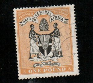 British Central Africa #29 Very Fine Used - Very Minor Light Thin