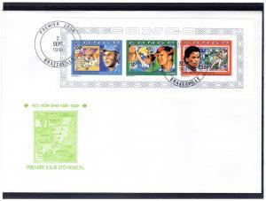 Congo 1991 Golf/Baseball Collective SS Imp.F.D.C.Sc.930/932