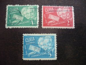Stamps - Cuba - Scott# 396-398 - Used Set of 3 Stamps