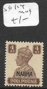 INDIA NABHA   (PP1305B)  KGVI  4 A  SG 114   MOG
