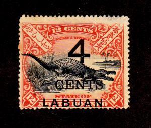 Labuan - 1899 - SC 90 - Used - Regular Issue - Surcharged