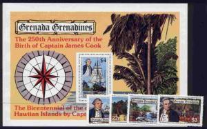Grenada Grenadines 303-7 MNH Captain Cook, Ship