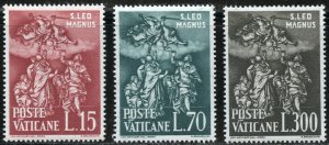 Vatican City Scott 301-03 MNHOG -1500th of Death of Pope Leo the Great-SCV $2.25