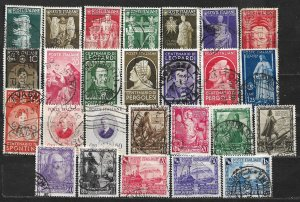 COLLECTION LOT OF 26 ITALY STAMPS 1937+ CV= $45