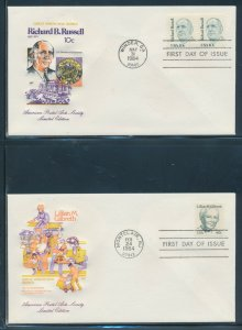 #1853 // 2094 ON (10) DIFF 1984 HOUSE OF FARNAM FDC CACHETS BV2980
