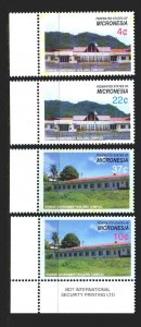 Micronesia. 2005. 1665-68. Government buildings. MNH.