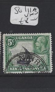 KENYA, UGANDA, TANGANYIKA  (P2705BB) KGV  5C BOAT SG 111A VARIETY VFU