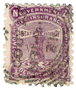 (I.B) New Zealand Postal : Life Insurance Department ½d (L16)