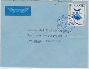 62274 -  SURINAME - POSTAL HISTORY -  COVER to HOLLAND 1955 - FISH FISHING